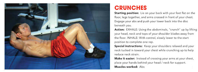 Core Crunches Exercises
