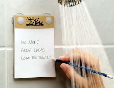 Notas en el baño para esas grandes ideas