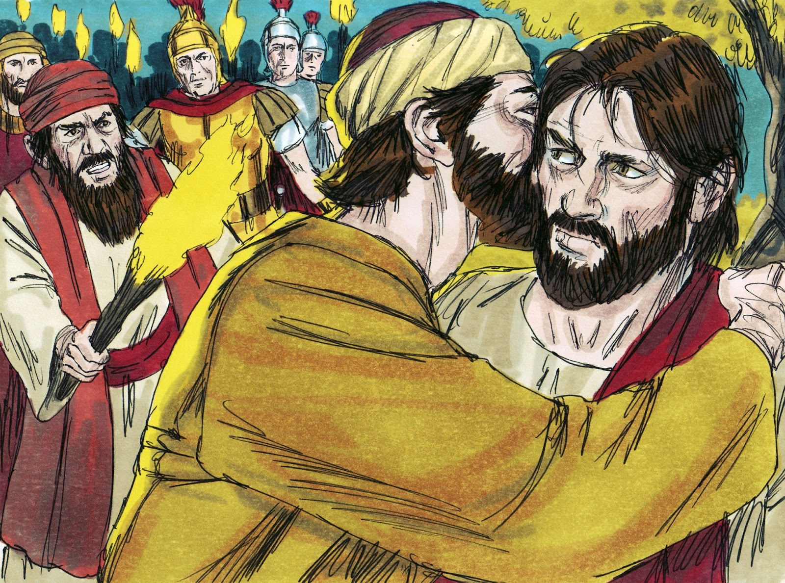 Jesus Before Caiaphas Trial Peter Denies Night Of