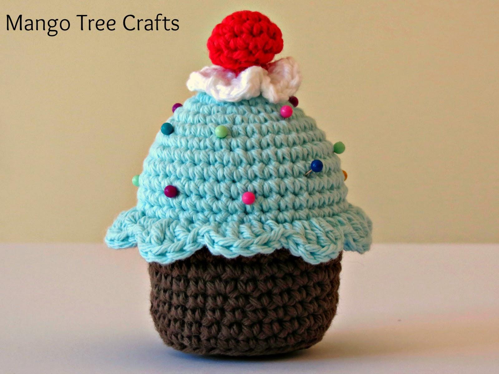 Mango tree crafts crochet cupcake pin cushion crochet cupcake pin cushion bankloansurffo Images