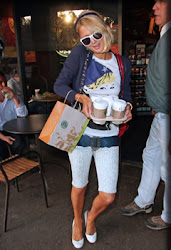 """PARIS HILTON"" on iPhone with STARBUCKS COFFEE"