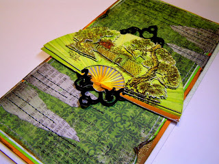 japan, handmade card, 3D paper, glimmer mist, SPELLBINDERS - SHAPEABILITIES - FANCY TAGS TWO