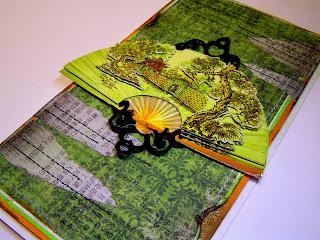 japan, handmade card, 3D paper, glimmer mist, SPELLBINDERS - SHAPEABILITIES - FANCY TAGS TWO