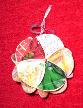 Christmas card ball ornaments 1