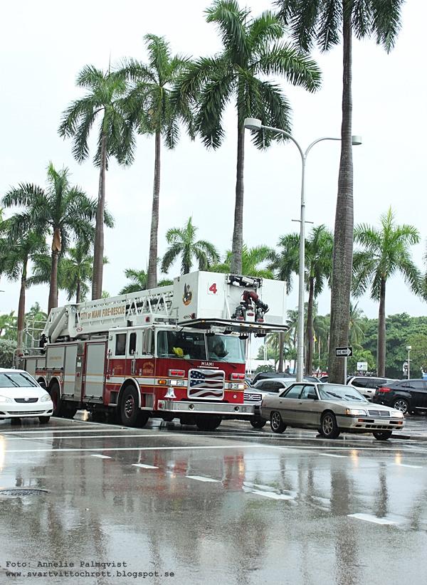 brandbil i Miami, Florida