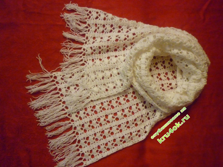 Вязание крючком шарфов фото