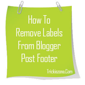 How To Remove Or Delete Labels From Blogger Post Footer