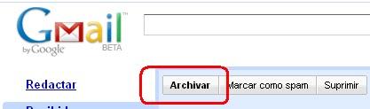 Cómo archivar correos en Gmail