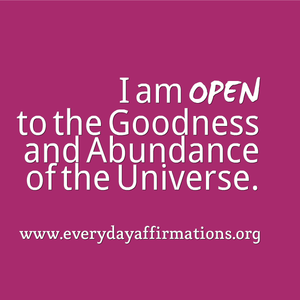 Daily Affirmations 2014, Affirmations for Prosperity