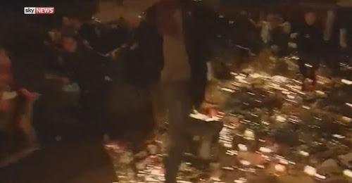 Assista: o momento centenas de pessoas fugiram do lugar de la republique em Paris