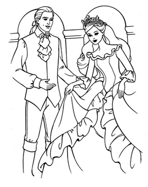 Barbie Fashion Fairytale Colouring Pages To Print