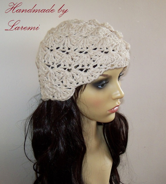 very stylish hat for chilly autumn days this beanie hat is crocheted ...