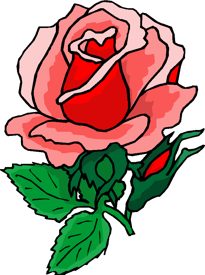 Beautiful Red Rose Free Flower Clipart