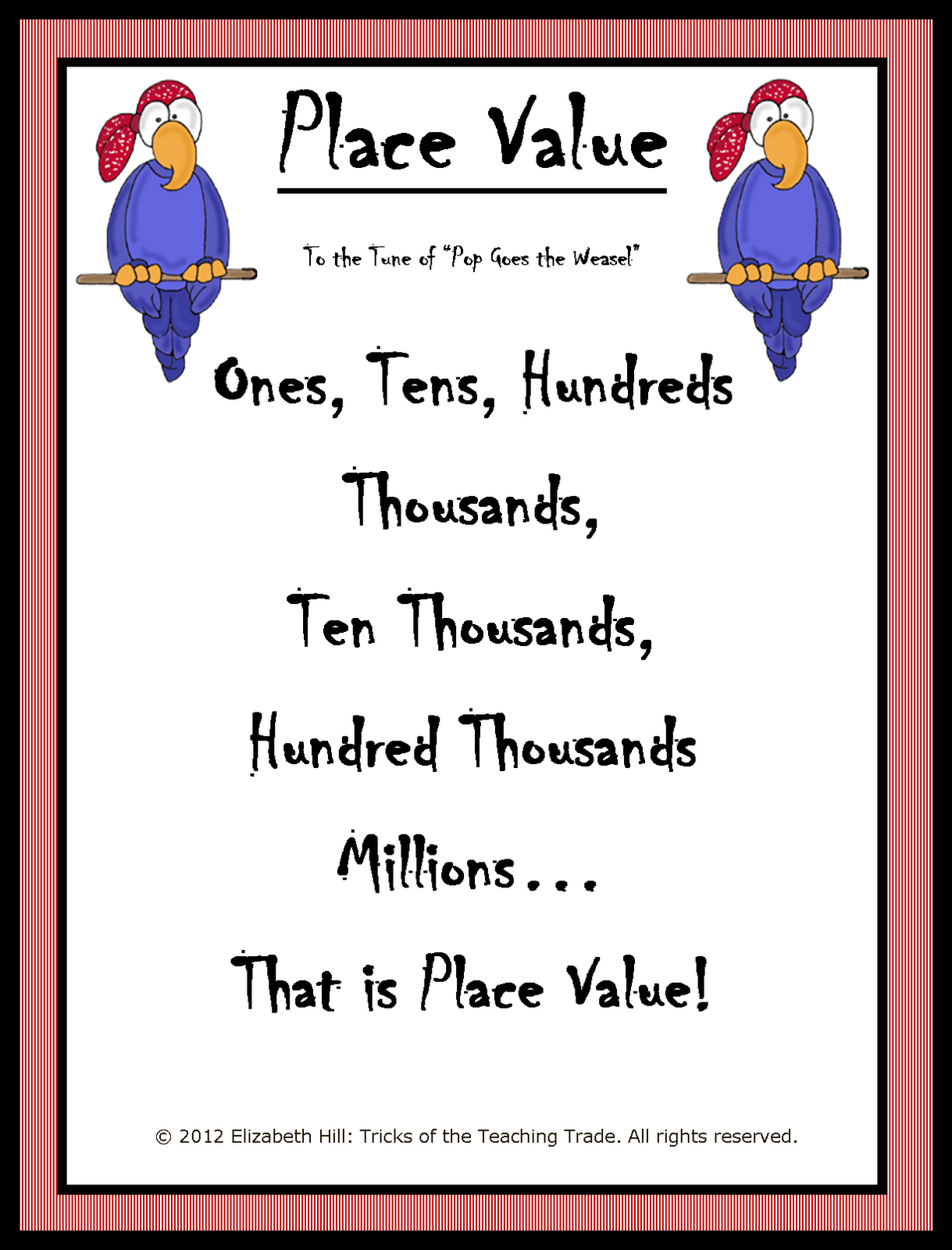 Worksheet Place Value For Kids tricks of the teaching trade pirate place value in last few years i created a powerpoint presentation that took students through by focusing first on identifying places where digi