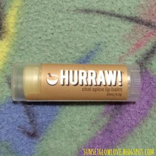 Hurraw lip balm in Chai Spice