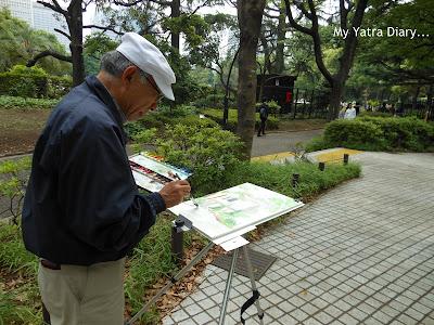 An artist's inspiration - Hibiya Garden - Tokyo, Japan