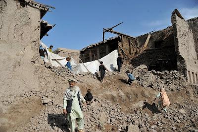 DAÑOS TRAS TERREMOTO EN AFGANISTAN, 24 DE ABRIL 2013