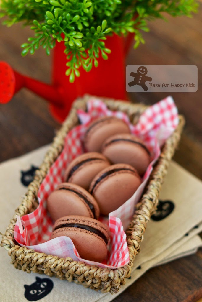 chocolate French macarons Italian meringue