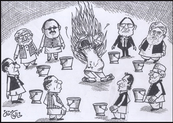 Daily Jang Cartoon-2 21-8-2011