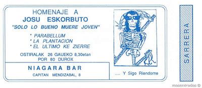 entrada concierto homenaje a josu eskorbuto
