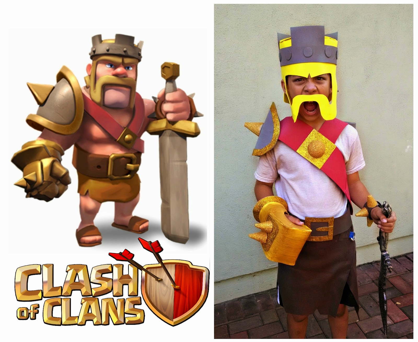 Halloween Costume Watch 2014: Clash of Clans Barbarian King