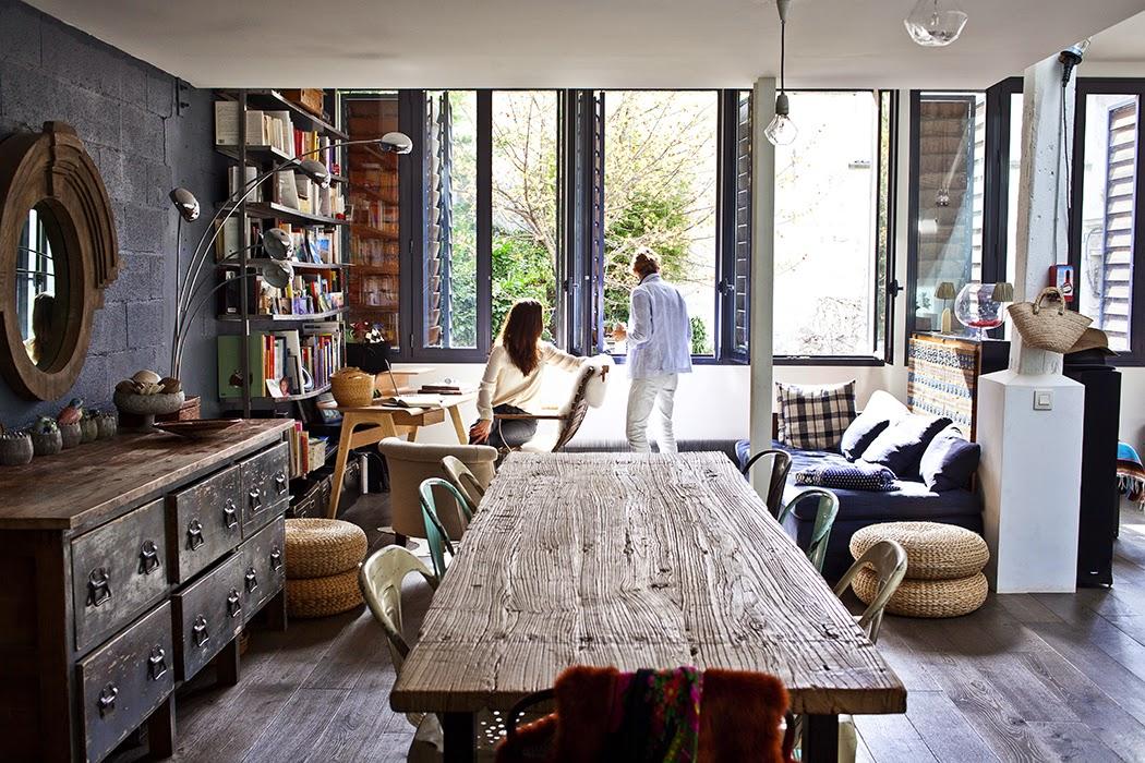 Atelier rue verte le blog paris un loft lumineux for Binnen interieur