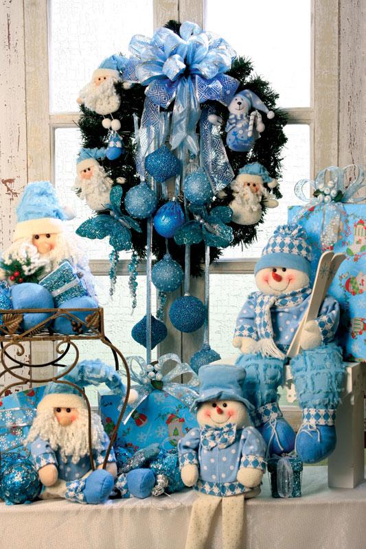 decoracao de arvore de natal azul e prata : decoracao de arvore de natal azul e prata:Garimpando Net – Enfeites Natalinos com Garrafas PET