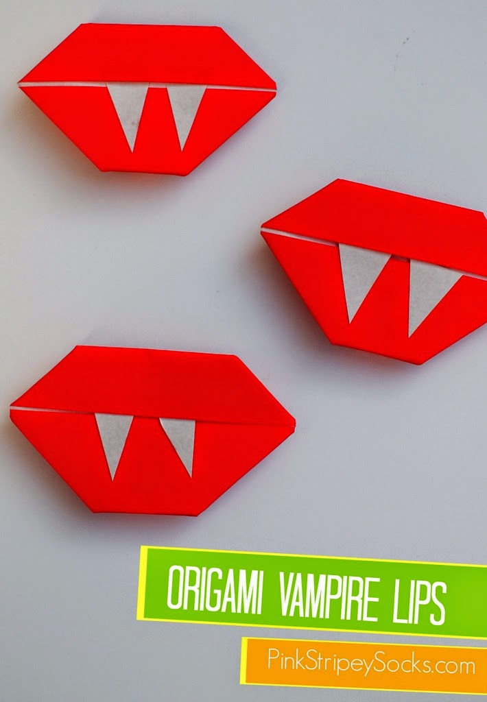 super easy way to hold origami vampire lips