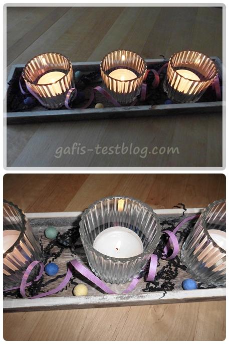 Teelichtdeko- Fasching
