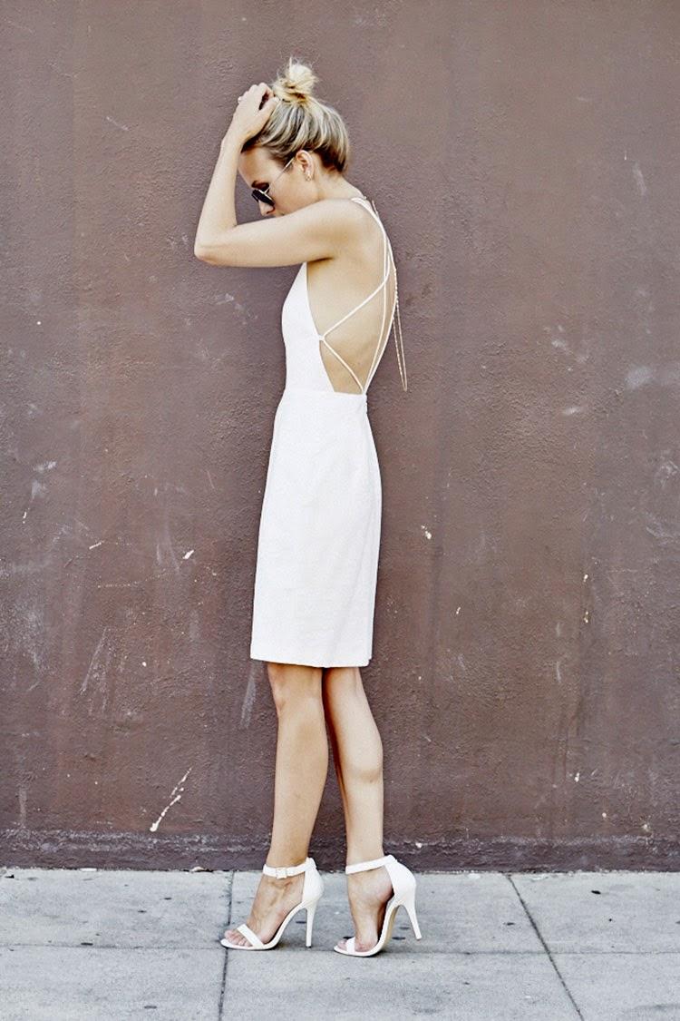moda feminina, roupas femininas, vestido branco justo, sandália branca, dress fashion