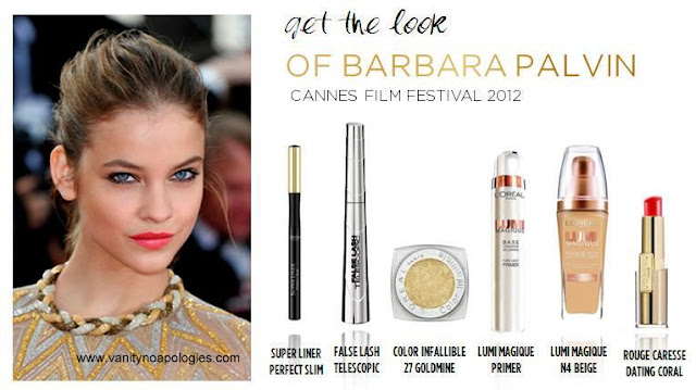 Barbara Palvin Cannes makeup products