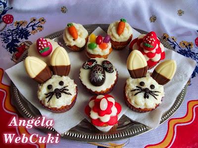 Répás muffinok, könnyen és gyorsan elkészíthető sütemény, húsvéti díszítéssel.