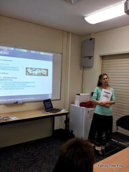 Saadia Thompson Dwyer from Queensland State Archives answering questions