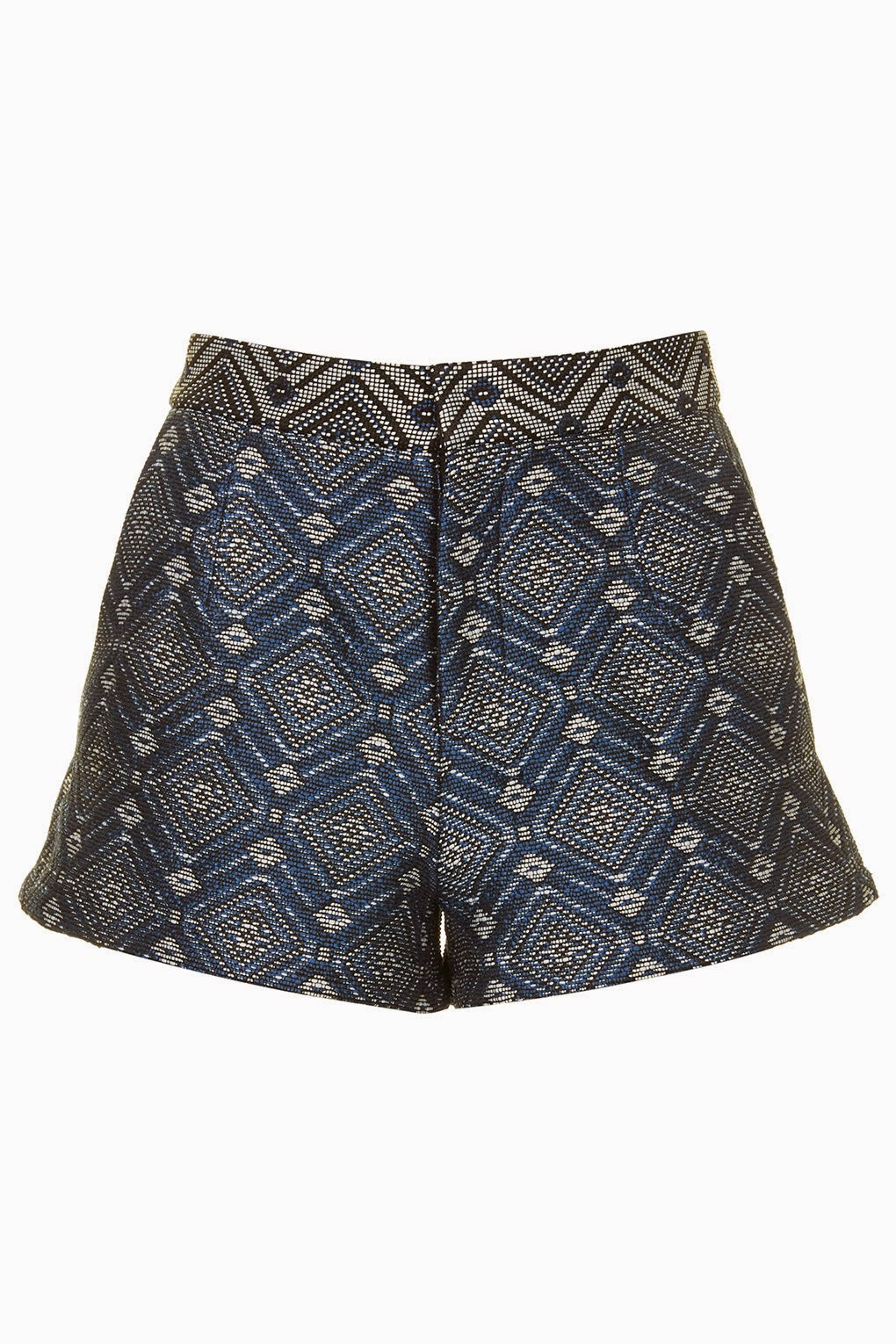 jacquard blue shorts,