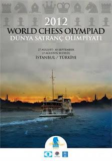 L'affiche officielle des Olympiades d'échecs 2012 à Istanbul