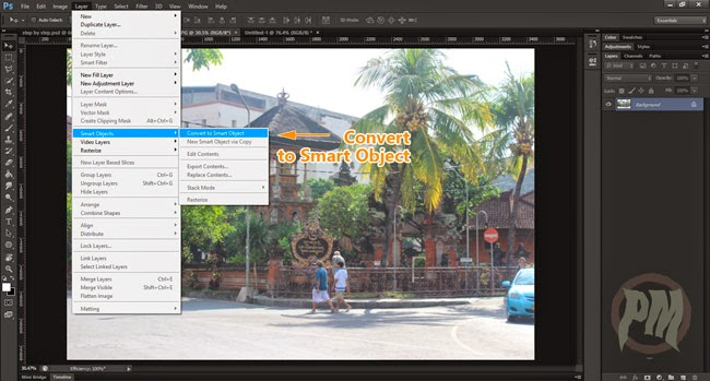 Tutorial Photoshop Mengubah Layer menjadi Smart Object