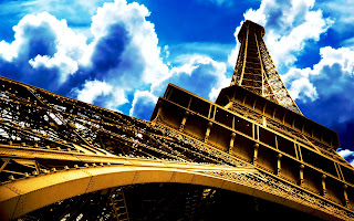 Eiffel Tower Under Look Clouds HD Wallpaper