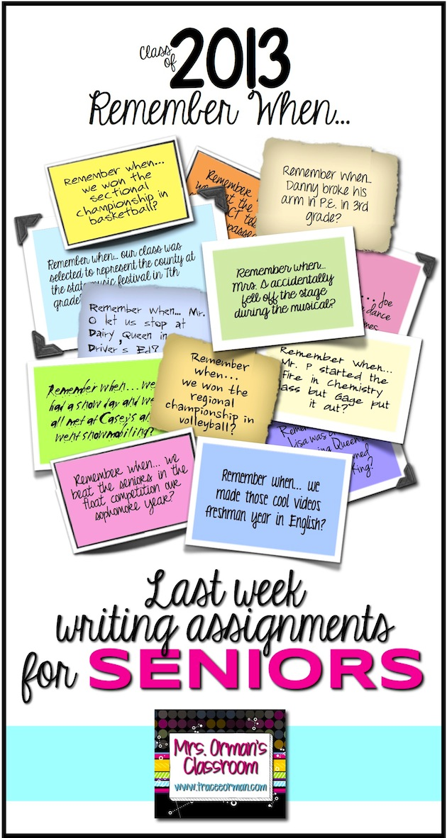 Classroom Writing Ideas ~ Mrs orman s classroom seven end of the year writing