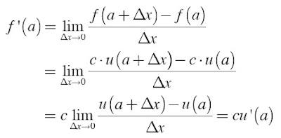 Turunan Fungsi y = c . u