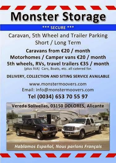 Caravan storage / parking, Alicante, Costa Blanca