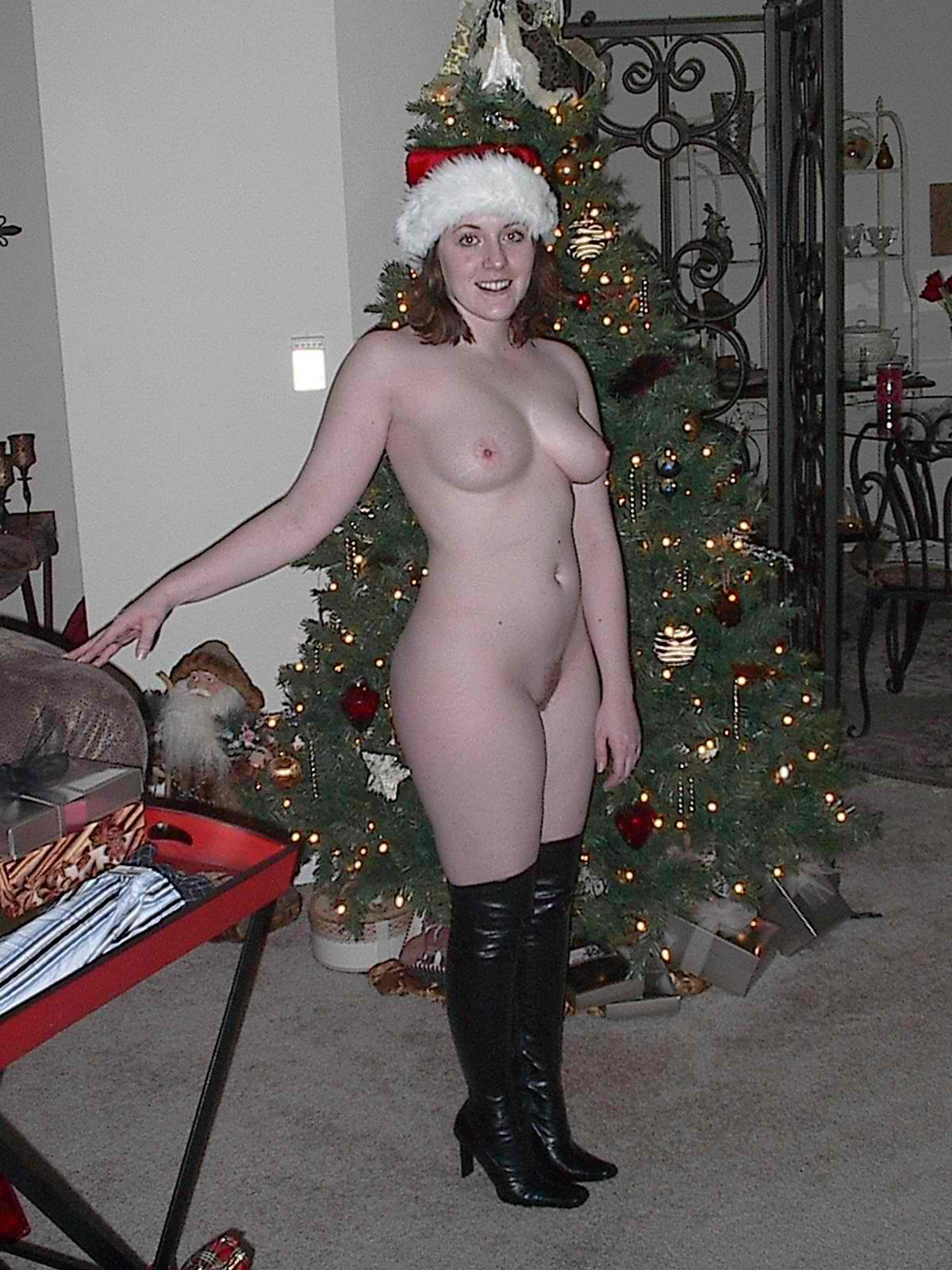naked women at christmas