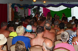 Nude performance during the FQN/FCN Canadian Naturist Festival