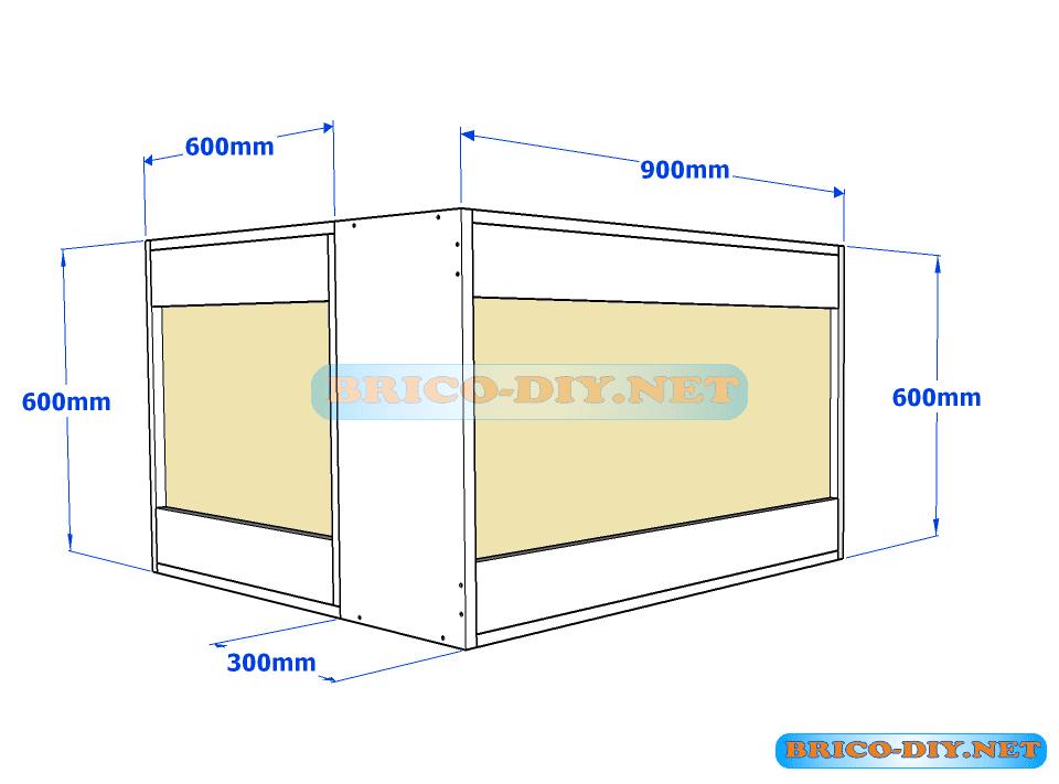 Muebles de cocina plano de alacena de melamina esquinera for Plano escritorio melamina