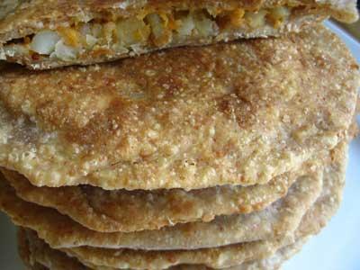 Parathas Stuffed with Sweet Potato and Potato | Lisa's ...