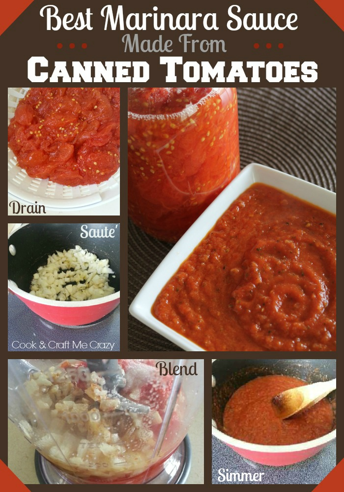 Cook and Craft Me Crazy: Canned Tomato Marinara Sauce