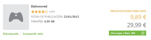 La oferta de la semana nos trae el juego Dishonored por menos de 10€ ;-)