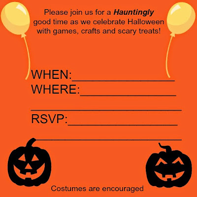 Invite, halloween party, celebrate, pumpkins, fun, scary