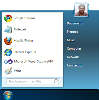 Amazing Windows7 Start Menu UI Using Pure CSS3