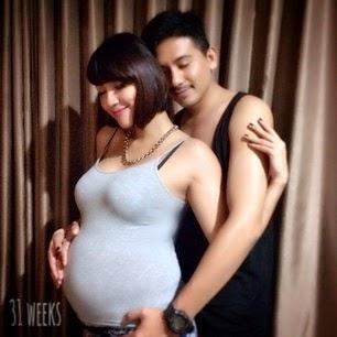 Foto Seksi Sharena Rizky/ Sharena Gunawan/ Sharena Delon Saat hamil