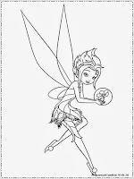 mewarnai gambar untuk anak perempuan tinkerbell